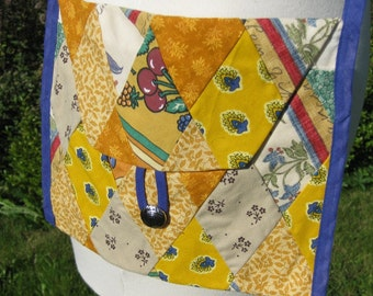 Yellow Diamond Patchwork Purse