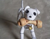 Day of the Dead Skeleton Dog Altar Art Sculpture Halloween