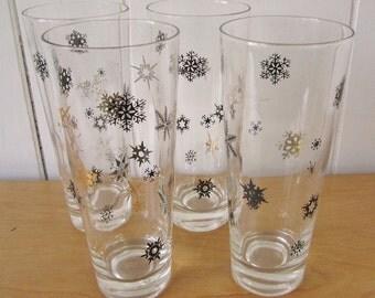 vintage snowflake glasses