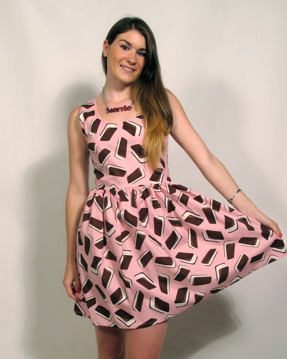 Pink Ice Cream Sandwich Party Dress MADE TO ORDER