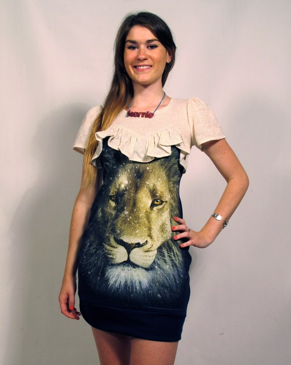 Lion Ruffle Top Dress