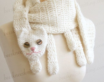 Digital PDF Crochet Pattern for Cat Cuddler Scarf - DIY Fashion Tutorial - Instant Download - ENGLISH only
