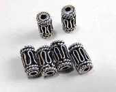 Sterling Silver Barrel Bali Beads/8