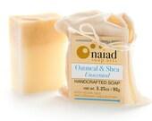 Shea and Oatmeal Artisan Soap - Handmade Soap, Unscented Soap, All Natural Soap, Vegan Soap
