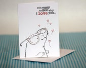 Valentine Blinded by love Mole Greeting Card