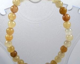 Argonite Gemstone Stretch Bracelet Gemstone Bracelet Gemstone Jewelry Beaded Bracelet Argonite Bracelet Yellow Bracelet BE2050