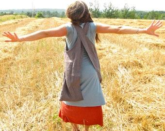 Organic Linen Gathering Tunic