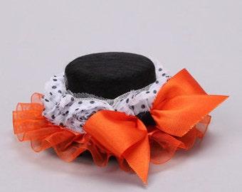 Custom size Boutique Mini top hat fascinator photo prop girl Halloween Bows