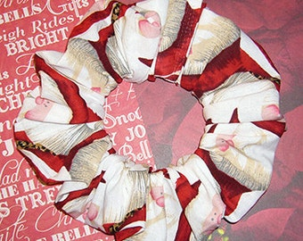 Santa Baby Hair Scrunchie, Ponytail Holder, Holiday Hair Tie