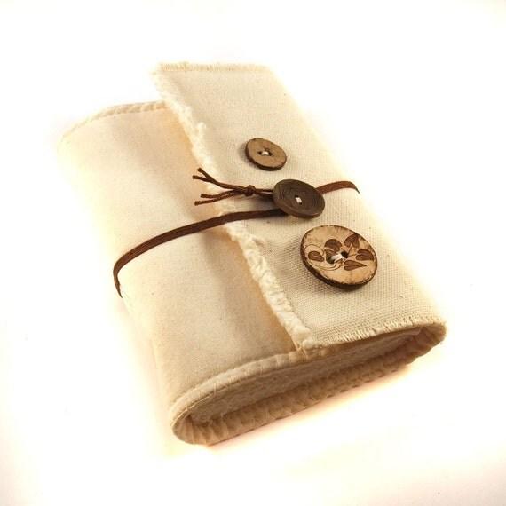 Buttons, Fabric journal, Handmade book