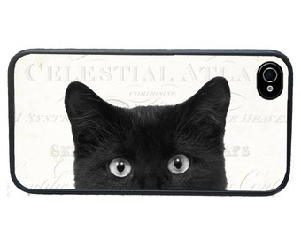iphone 6 case Black Cat iPhone 4 Case, fits iPhone 4 and 4s, Peeping Tom - iPhone 5 Case - Galaxy s3 s4 s5
