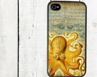 iphone 6 case iPhone 4 Case, fits iPhone 4 and 4s, Octopus - iPhone 5 Case - Galaxy s3 s4 s5