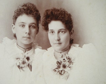 sister mine. beautiful ladies. antique photo cabinet card