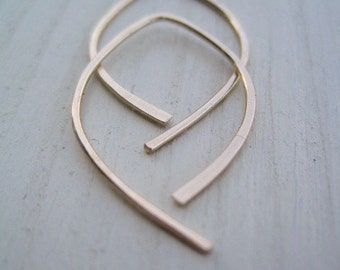 Goldfilled Tiny Simple Leaf Hoops