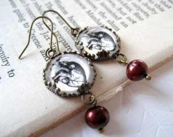 The Heart and Pearl Earrings