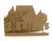 Lasercut card - Table Mountain