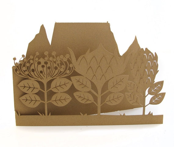 Lasercut card - Table Mountain