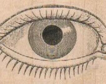 Rubber stamp  Steampunk  supplies eye  body parts   wood Mounted anatomy aufkleber   15099