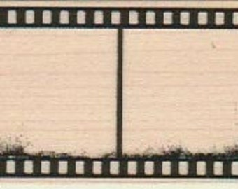 Film strip stamp  rubber stamps   wood mounted 18921