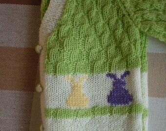 Happy Bunnies Baby Sweater