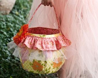 SALE Easter basket pattern PDF sewing pattern flower girl basket ebook Instant Download