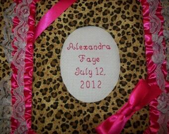 LEOPARD Custom Personalized Fabric Photo Album / Scrapbook