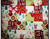 Patchwork Christmas Blanket