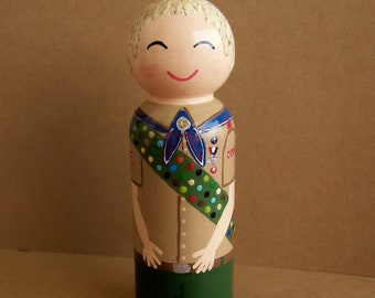 Hand Painted Love Boxes Custom Eagle Scout Peg Doll Wood