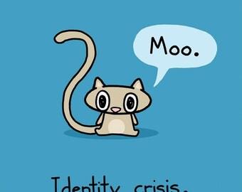 Identity Crisis Cat Greeting Card