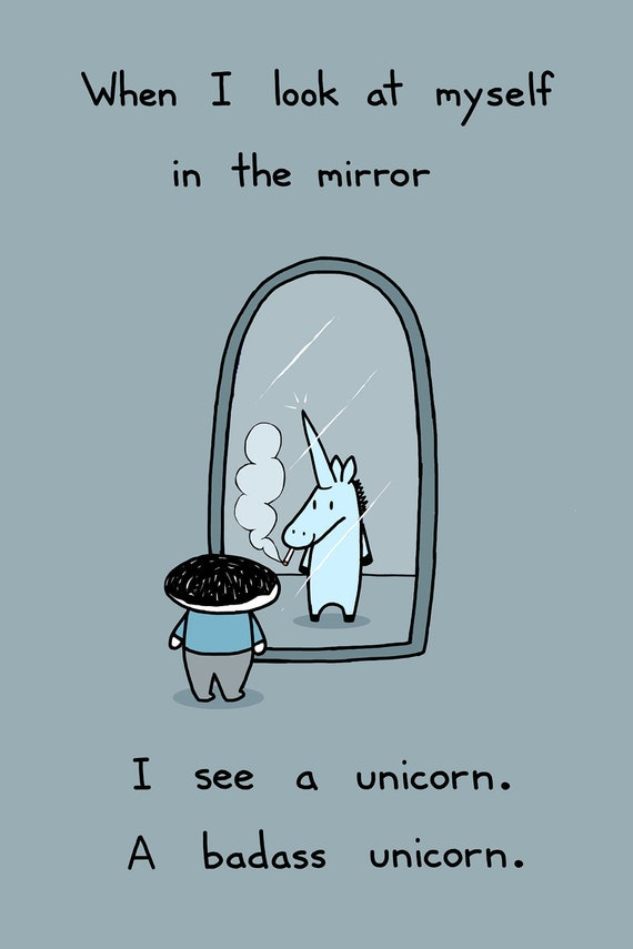 I'm a Unicorn 12x18 Art Print