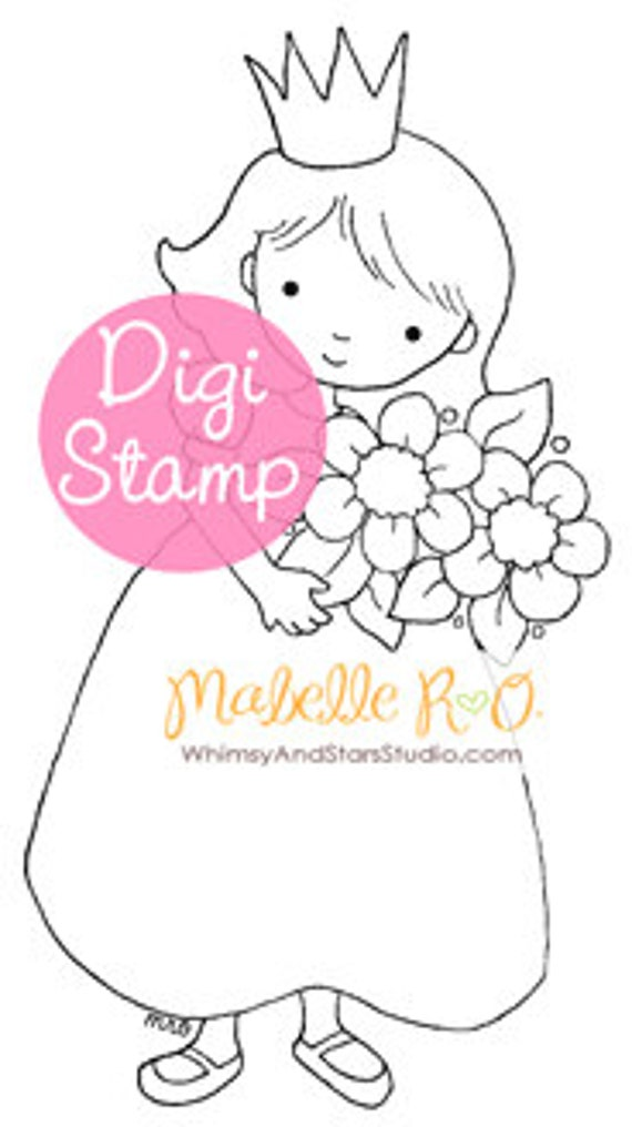 Instant Download Digi Stamp: Little Princess