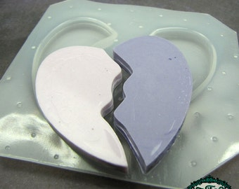 Resin Mold BROKEN HEART Handmade Plastic Resin Molds Also works also with soap, candle wax, and clay