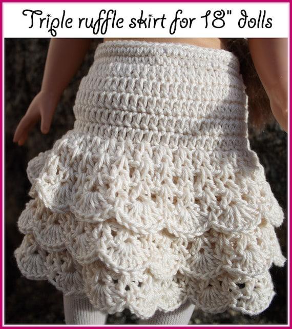 Items Similar To Triple Ruffle Skirt Crochet Pattern To