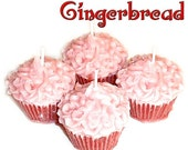 4 Gingerbread Cupcake Candle Minis Spicy Cookie Scent