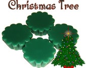 4 Christmas Tree Tarts Candle Melts Pine Scent