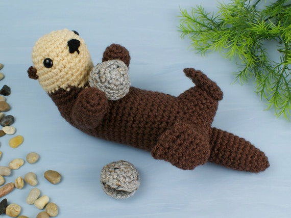 Ponyta Amigurumi Pattern : PDF Sea Otter amigurumi CROCHET PATTERN