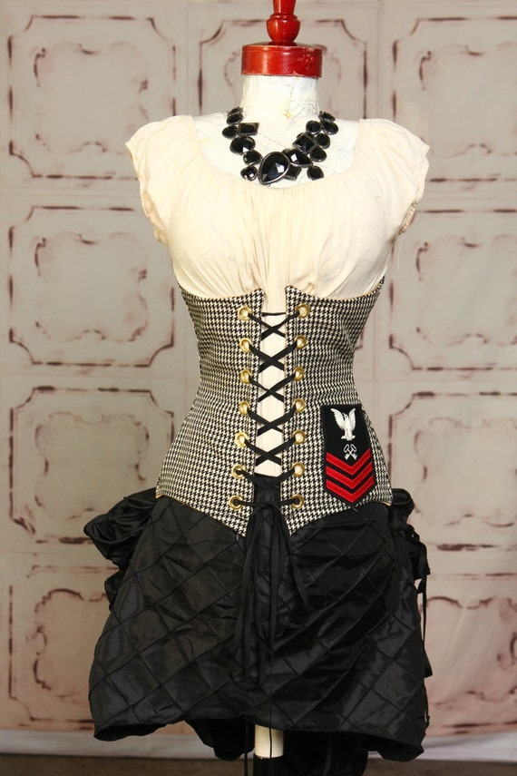 Black Diamond Mini Bustle Skirt