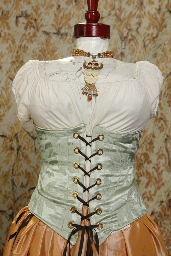 Waist 33 to 35 Cool Mint Wench Corset - Last of Fabric