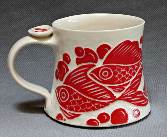 Favorite Mug with Red Fish... In Stock