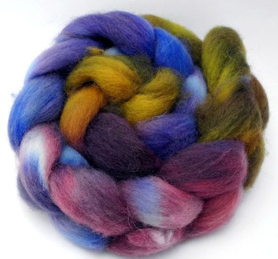 Atomic Flower Pot - Cheviot Superwash - hand dyed roving