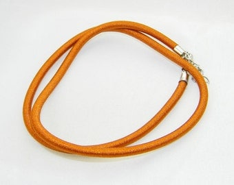 Tan cord necklace for large hole European beads, charms, dangles