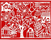 you & me archival print - four color choices