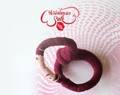 Crochet root bangle - Double purple
