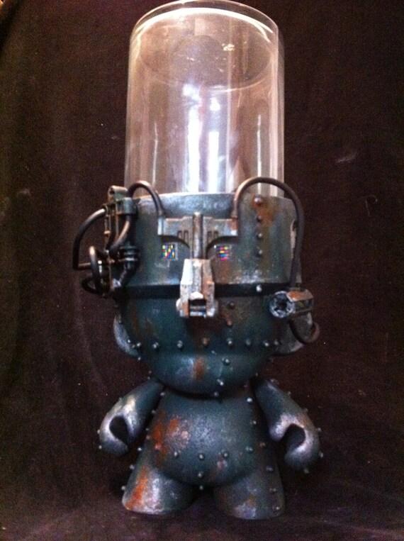Military GrowBot Terrarium Munny Kidrobot Urban Vinyl Art toy  Dunny Mech