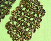 10pcs 50mm Antique Bronze Filigree Patchs R0148-AB