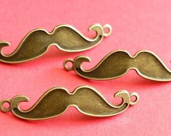 Sale Lead Free 10pcs Antique Bronze Big Mustache Pendants K1655-AB-NR