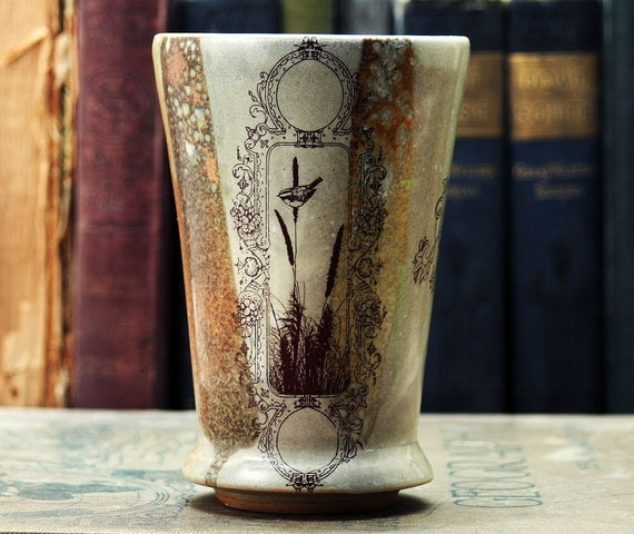 Cup with Wetlands Drawings - Glassware