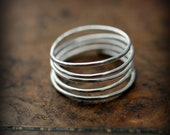 Wrap around ring - recycled sterling silver ring - silver or gold spiral wrap ring