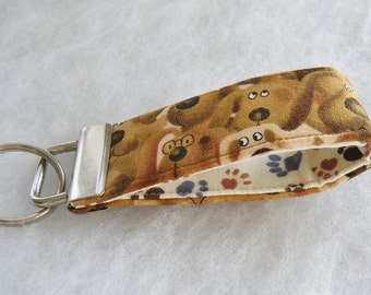 Mini Key Fob  - Brown Dogs
