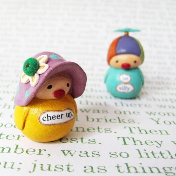 Sale! Wee Clown. Cheer Up. A Miniature Bea's Wees Collectible by humbleBea.